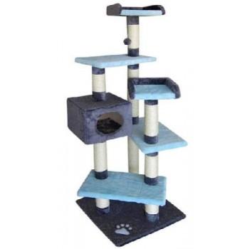 FAUNA INT / Фауна Интернешнл MATEUS Игровая площадка для кошек синяя/голубая 49х49х153см FICP-286