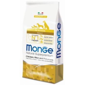 Monge / Монж Dog Speciality корм для собак всех пород курица с рисом и картофелем 12 кг