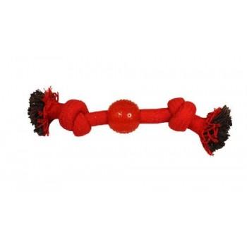 """Triol / Триол Игрушка для собак """"Веревка-канат, 2 узла и мяч"""", 230мм"""
