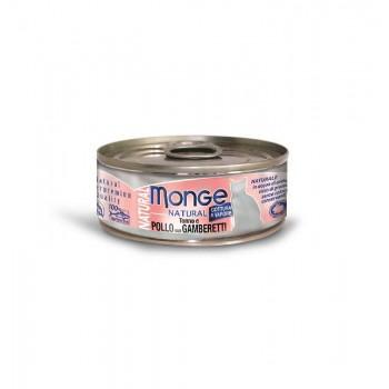 Monge / Монж Cat Natural консервы для кошек тунец с курицей и креветками 80г