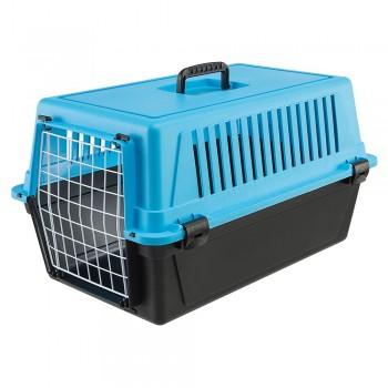 Ferplast / Ферпласт Переноска ATLAS 20 EL (без аксессуаров) для кошек и мелких собак, голубой