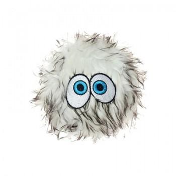 Silly Squeakers Игрушка-пищалка для собак Пушистый мяч с глазами средний, коричневый (iBall Medium Brown) SS-IB-M-BR