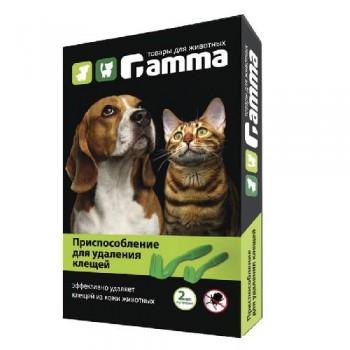 Gamma / Гамма Приспособление для удаления клещей, 63*12*7мм, (уп.2 шт.)