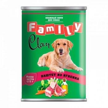 Clan / Клан Family консервы д/собак паштет из ягненка, 0,415 кг