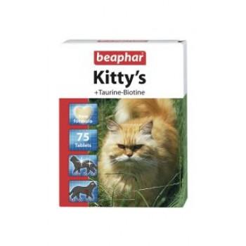 Beaphar / Беафар ВитаМиниз. лакомство «Kitty`s+Taurine+Biotin» с таурином и биотином д/кошек, 180шт