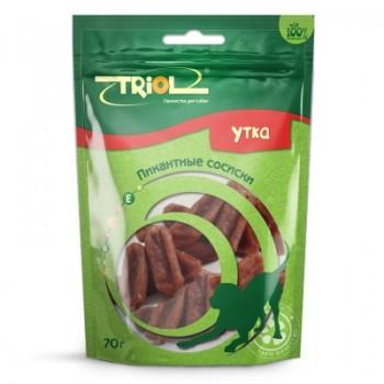 Triol / Триол Пикантные сосиски из утки для собак, 70г