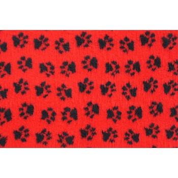 ProFleece коврик меховой 1х1,6м красный/черный