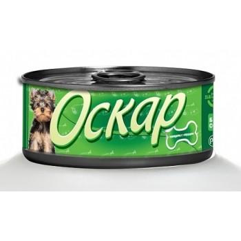 Оскар консервы для собак с сердцем ж/б 100г