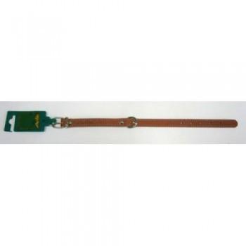 Аркон Ошейник кожаный 16/1, размер 26-34 см x 16 мм, цвет коньячный, о16/1к, один слой кожи, украшенный декоративной строчкой (32415)