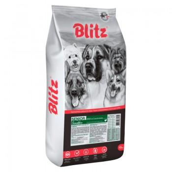 Blitz / Блитц Senior Sensitive сух. корм д/пожилых собак старше 7 лет Индейка, 15 кг