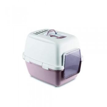 Stefanplast / Стефанпласт Туалет-домик Cathy Comfort с уголным фильтром и совочком, пудровый, 58х45х48см