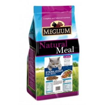 MEGLIUM / МЕГЛИУМ NEUTERED Корм сух.15 кг для стерилизованных кошек курица рыба MGS1215