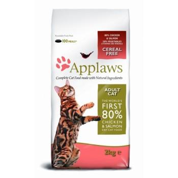 "Applaws / Эпплаус для кошек ""Курица и Лосось/Овощи: 80/20%"" 2 кг"
