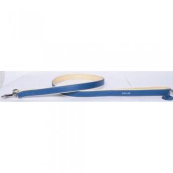 CoLLaR Brilliance Поводок кожаный двойной без украшений, 122см*25мм, синий (38902)