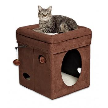 Midwest / Мидвест домик для кошек Currious Cat Cube 38,4х38,4х42h см