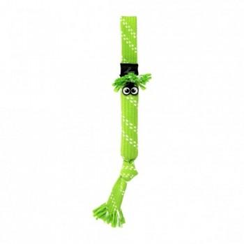 Rogz / Рогз Игрушка веревочная шуршащая SCRUBZ , большая, лайм (SCRUBZ ROPE TUG TOY SM)