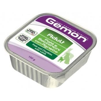 Gemon / Гемон Dog консервы для собак паштет с кусочками ягненка 150 г
