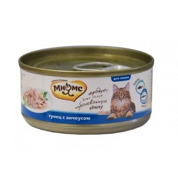 Мнямс консервы для кошек Тунец с анчоусами в нежном желе 70 г