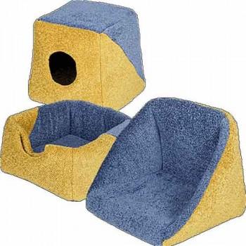 Зооник 22113 Дом-трансформер для кошек и собак,желто-синий