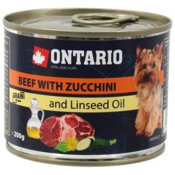 Ontario / Онтарио Консервы для собак малых пород: говядина и цуккини 0,2 кг