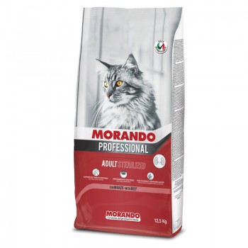 Morando / Морандо Professional Gatto сухой корм для стерилизованных кошек с говядиной, 12,5 кг