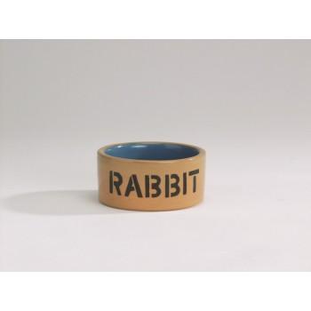 Beeztees / Бизтис 801482 Миска керамическая д/кролика бежево-голубая 11,5см