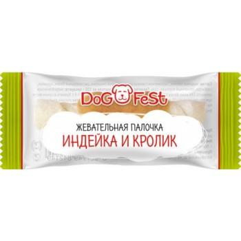 Dog Fest / Дог Фест Жевательная палочка ИНДЕЙКА И КРОЛИК 4.6 гр х 20 шт