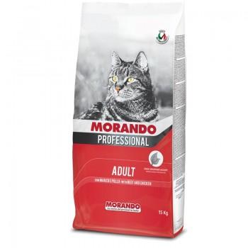 Morando / Морандо Professional Gatto сухой корм для взрослых кошек с говядиной и курицей, 2 кг