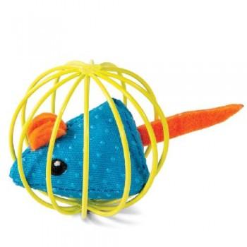 """Triol / Триол Игрушка для кошек """"Мышка в шаре"""", d63мм"""