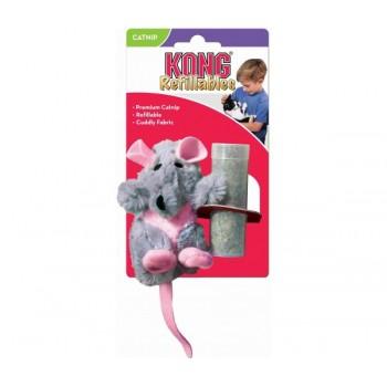 """Kong / Конг игрушка для кошек """"Крыса"""" плюш с тубом кошачьей мяты"""