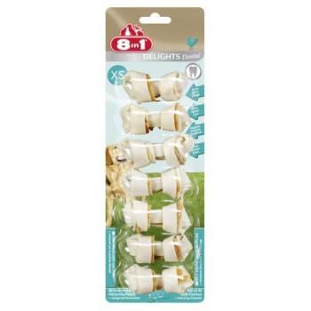 8in1 Dental Delights XS косточки с куриным мясом для мелких собак с минералами 7х7,5 см
