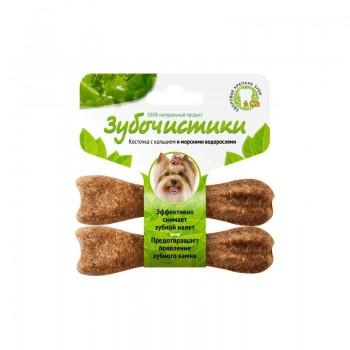 ЗУБОЧИСТИКИ Косточка жевательная для собак мелких пород до 10 кг Морские водоросли набор 2шт 36г