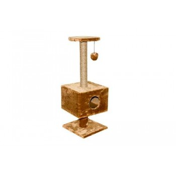 Darell / Дарэлл Домик-когтеточка квадратный на подставке 37*35*95см (8108)