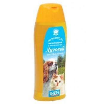 """Шампунь """"ЛУГОВОЙ"""" инсектицидный для собак и для кошек от блох с экстрактами лекарственных трав и ланолином 270 мл"""