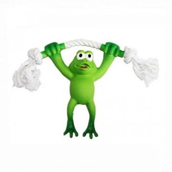 "Ziver / Зивер Игрушка ""Лягушка на канате зеленая"", 21 см"