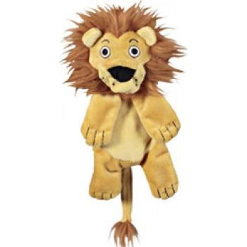 JW Игрушка д/собак - Львенок, хрустящая, средняя, мягкая Crackle Heads Leroy Lion Medium (47021)