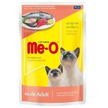 Ме-О Adult пауч д/кошек №8 Тунец и белая рыба в желе 80г 86802