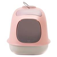 """United Pets био-туалет """"Min?"""" в комплекте с совочком, пакетами для уборки и угольным фильтром, 40х40х50 см, розовый/серый"""