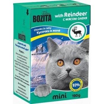 Bozita / Бозита MINI 2102 кон.д/кошек кусочки в желе с мясом Оленя 190г