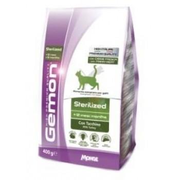 Gemon / Гемон Cat Sterilised корм для стерилизованных кошек с индейкой 400 г