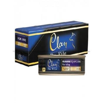 Clan / Клан De File консервы для собак Кролик, 0,1 кг
