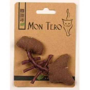 """Mon Tero / Мон Теро ЭКО игрушка для кошек """"Рыбья кость"""", 11 см, с кошач. мятой, фиолет"""