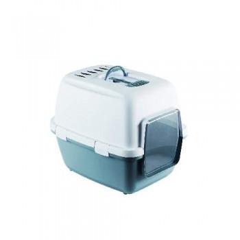 Stefanplast / Стефанпласт Туалет-домик Cathy Comfort с уголным фильтром и совочком, синий, 58х45х48см