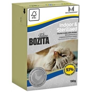 Bozita / Бозита Tetra Pak Funktion Indoor&Sterilised кусочки Курицы в желе д/домашних и стерилизованых кошек 190гр