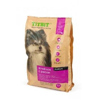 TitBit / ТитБит Корм сухой для собак мелких и средних пород ягненок с рисом 1 кг