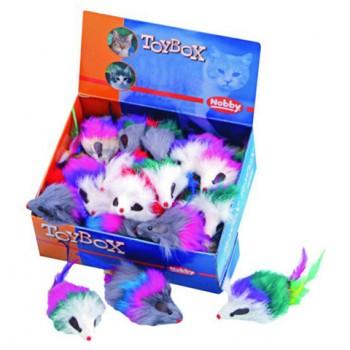 Nobby / Нобби Игрушка для кошек Мышка с перьями 7,5см 80121