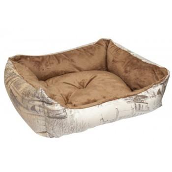 Зооник Лежанка-диван (микровелюр+вельбо) 450*520*170, Милано