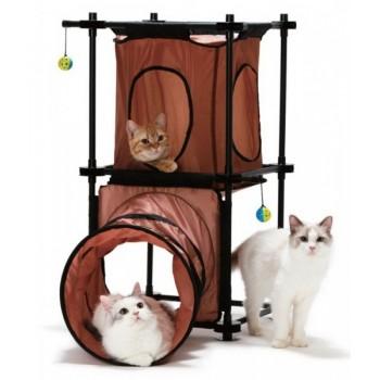 "Kitty City Игровой комплекс для кошек: Манхэттен ""Tunnel Tower"": 79*45*91см (sp0313)"