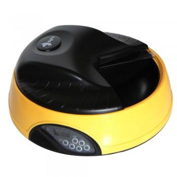 Автокормушка Petwant 4 секц. ж/к дисплей с отд. для льда, желтая