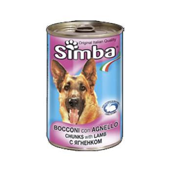 Simba / Симба Dog консервы для собак кусочки ягненок 1230 г